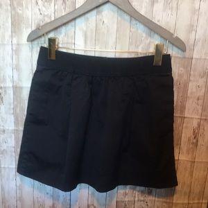 J. Crew Cotton Skirt in Navy